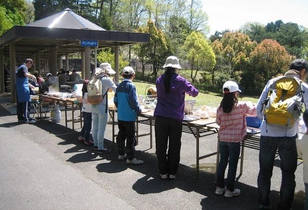 毎年春に行われる野外活動センターの竹の子まつり